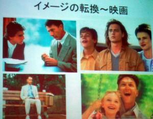 映画のスライド